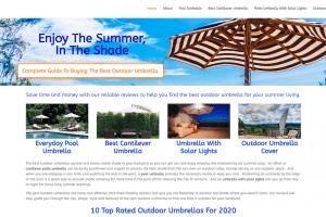 best outdoor umbrellas by brisbane web designer