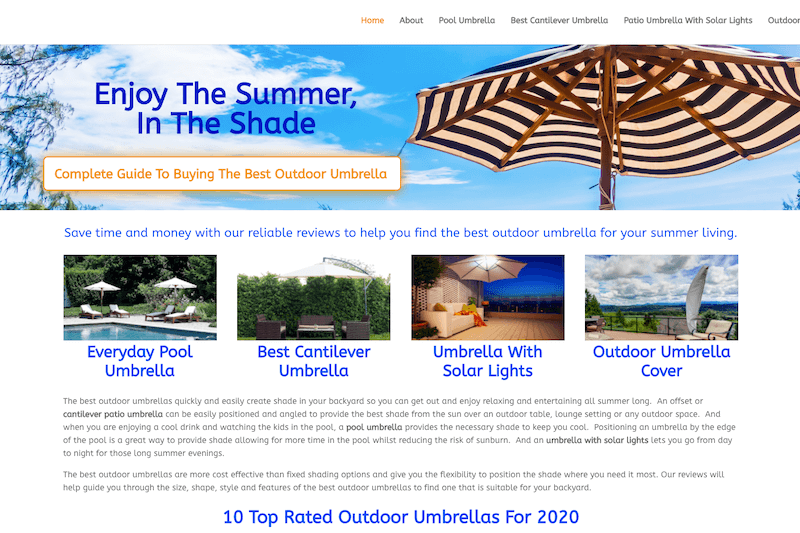 best outdoor umbrellas by brisbane web designer